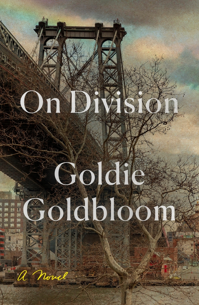 On Division novel cover, showing a large city bridge with a tree in the foreground